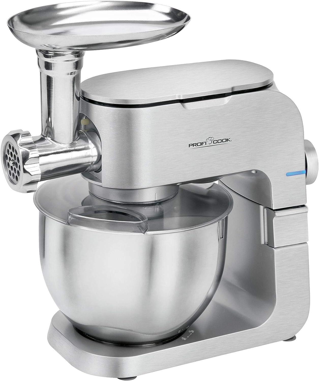 ProfiCook PC-KM 1151 1151-Robot de Cocina, 1300 W, Aluminio, 8 Velocidades, Acero inoxidable