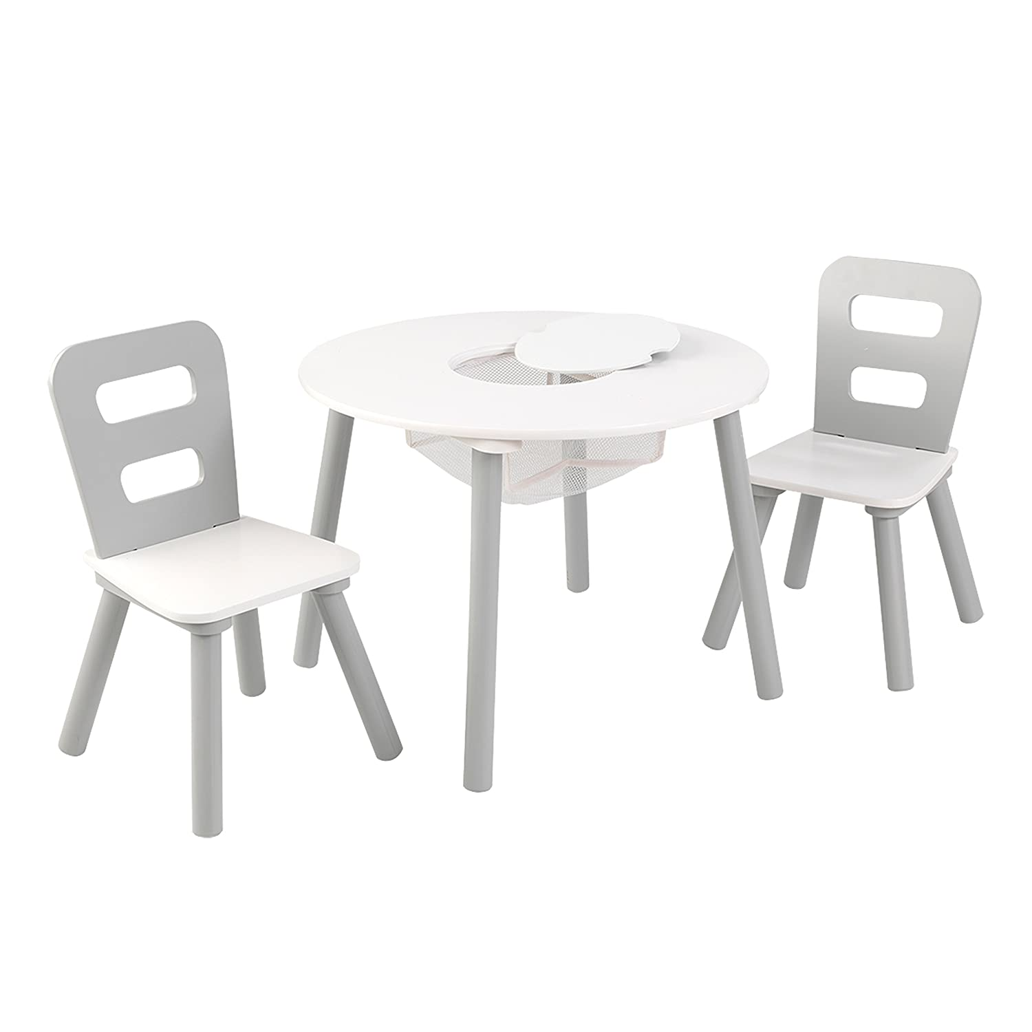 Round Table and 2 Chair Set - Grey Kidkraft