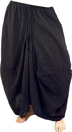 GURU-SHOP, Falda Hippie Falda Pantalón Aladin, Negro, Algodón, Tamaño:S/M (38), Faldas Largas: Amazon.es: Ropa y accesorios