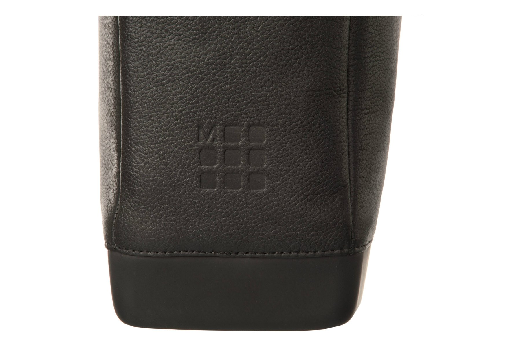 Moleskine Classic Leather Utility Bag, Black, For Work, School, Travel, and Everyday Use, Space for Tablet Laptop and Chargers, Notebook Planner or Organizer, Padded Adjustable Straps, Secure Zipper by Moleskine (Image #3)