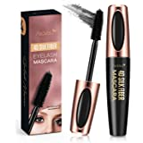 Natural 4D Silk Fiber Lash Mascara, Lengthening and Thick, Long Lasting, Waterproof & Smudge-Proof, All Day Exquisitely…