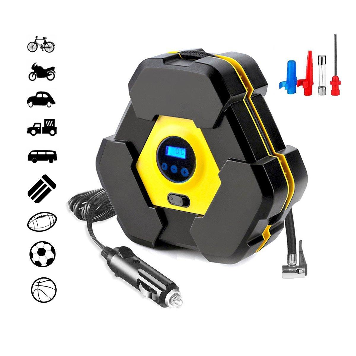amazon com portable tire inflator pump air compressor 12v for car rh amazon com 12 Volt Relay Wiring Diagrams Wiring 12 Volt Batteries in Series