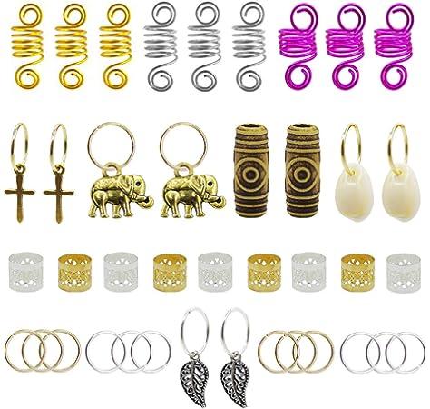 120pcs Dredlock Beads Accessories Grosun Hair Charms Pendants Hair Rings Braid Cuffs Braid Hair Accessories Braid Jewellery For Hair Amazon Com Au Beauty