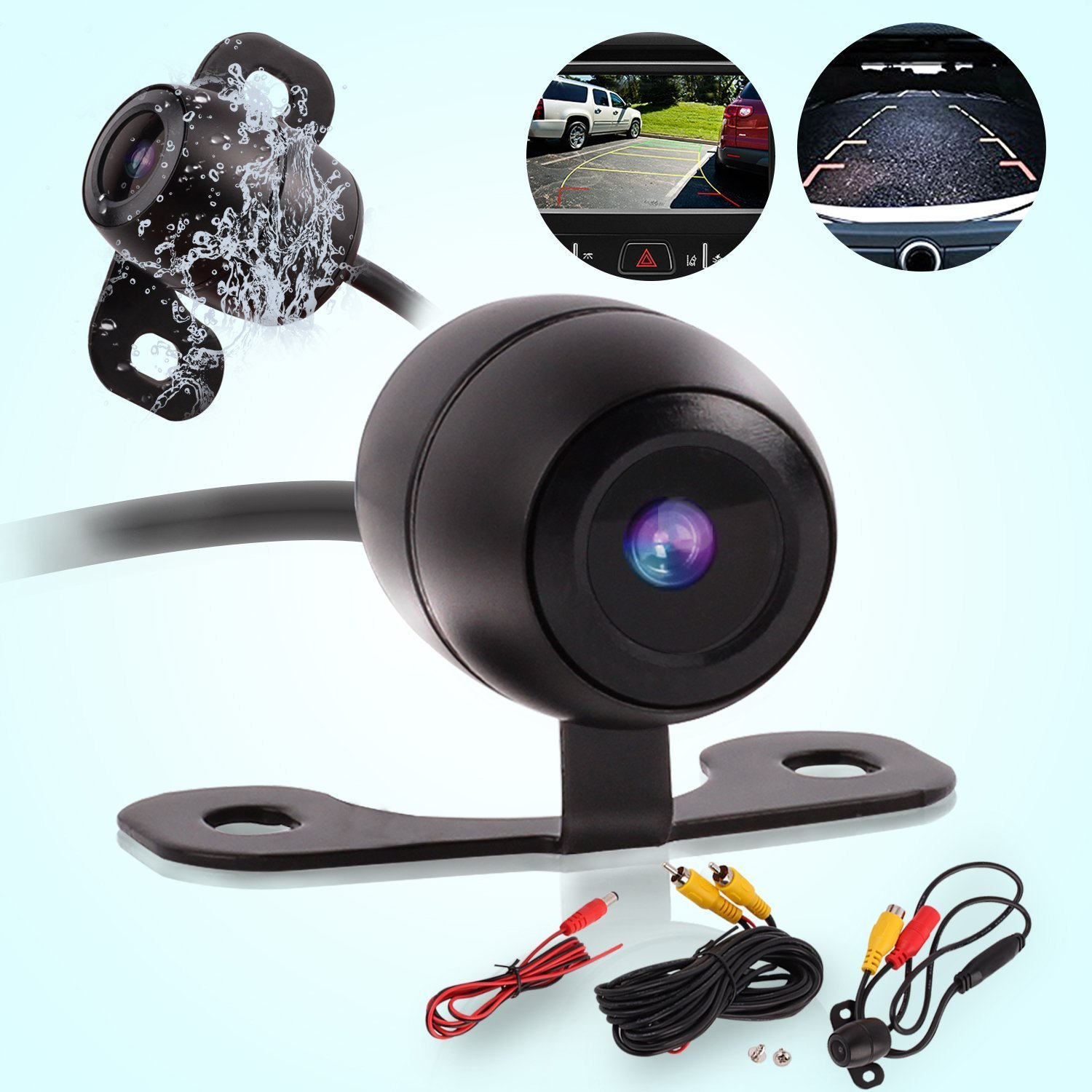 License Plate Reverse Parking Camera Universal Car Monitor Cameras High Definition IP68 Rated 170 Degree Night Vision Easy Installation with 2 Years Warranty Fanco Electronics