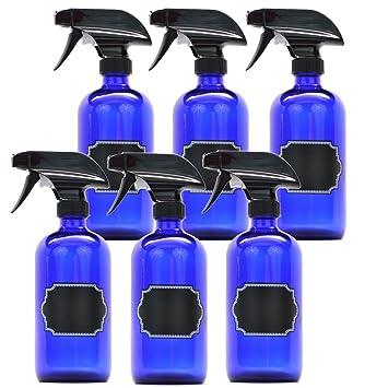 Firefly Craft Spray Botellas de cristal con pizarra etiquetas, 16 onzas Cada