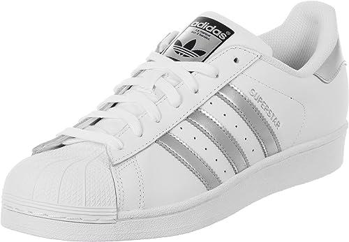 uk availability bf95a 34867 adidas Unisex-Erwachsene Superstar Low-Top, Weiß (Ftwr White Silver Met