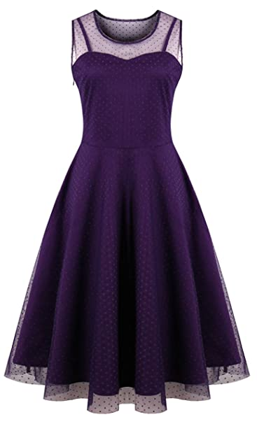 Kilolone Womens 50s Plus Size Dresses Christmas Party Vintage Retro