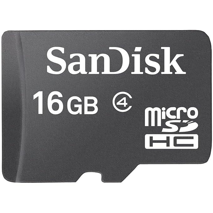 SanDisk 16 GB microSDHC Tarjeta de Memoria Flash Tarjeta ...