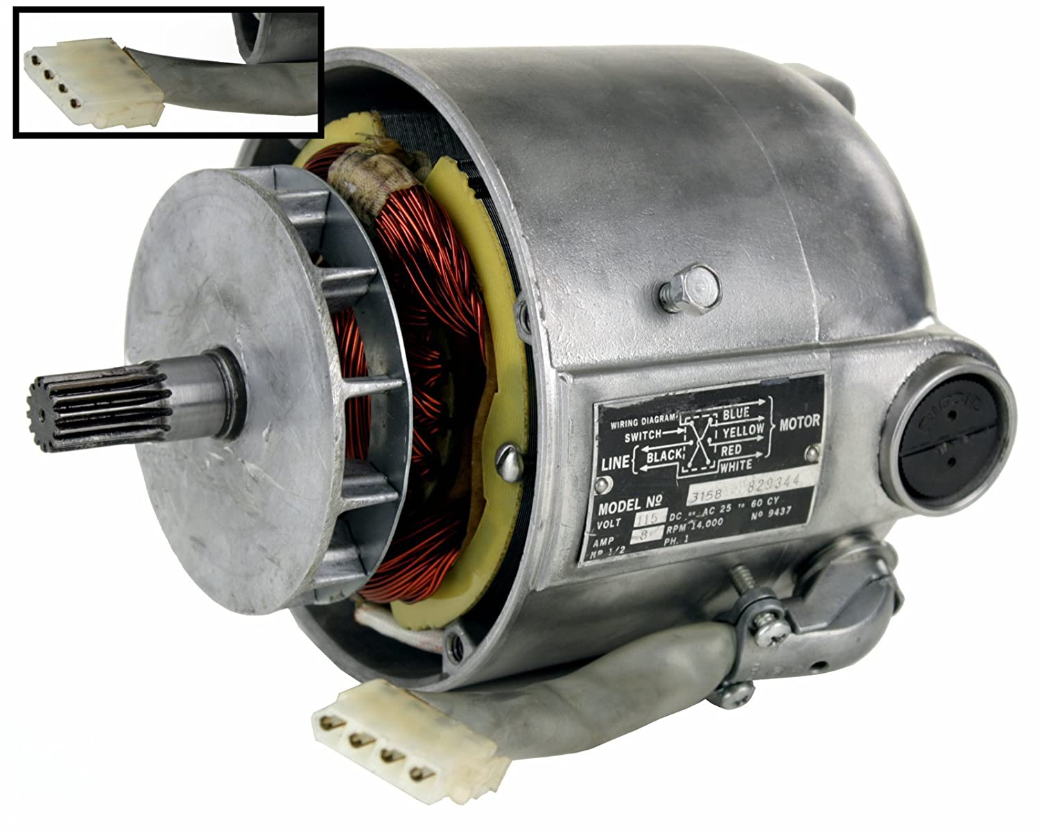 RIDGID 87740 Motor Model 3177 with White Plug (Certified Refurbished) - -  Amazon.com