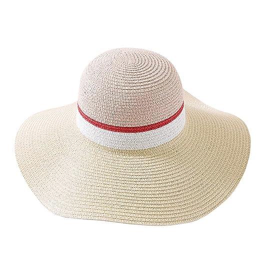 Sombrero de paja de verano para mujer Mujeres Sombreros de playa ...