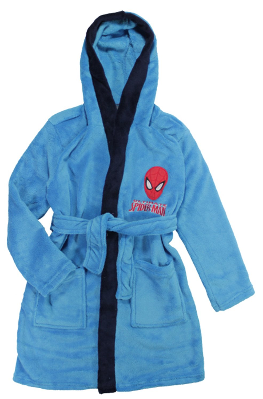 Jujak Boys Spiderman Dressing Gown Bathrobe Fleece
