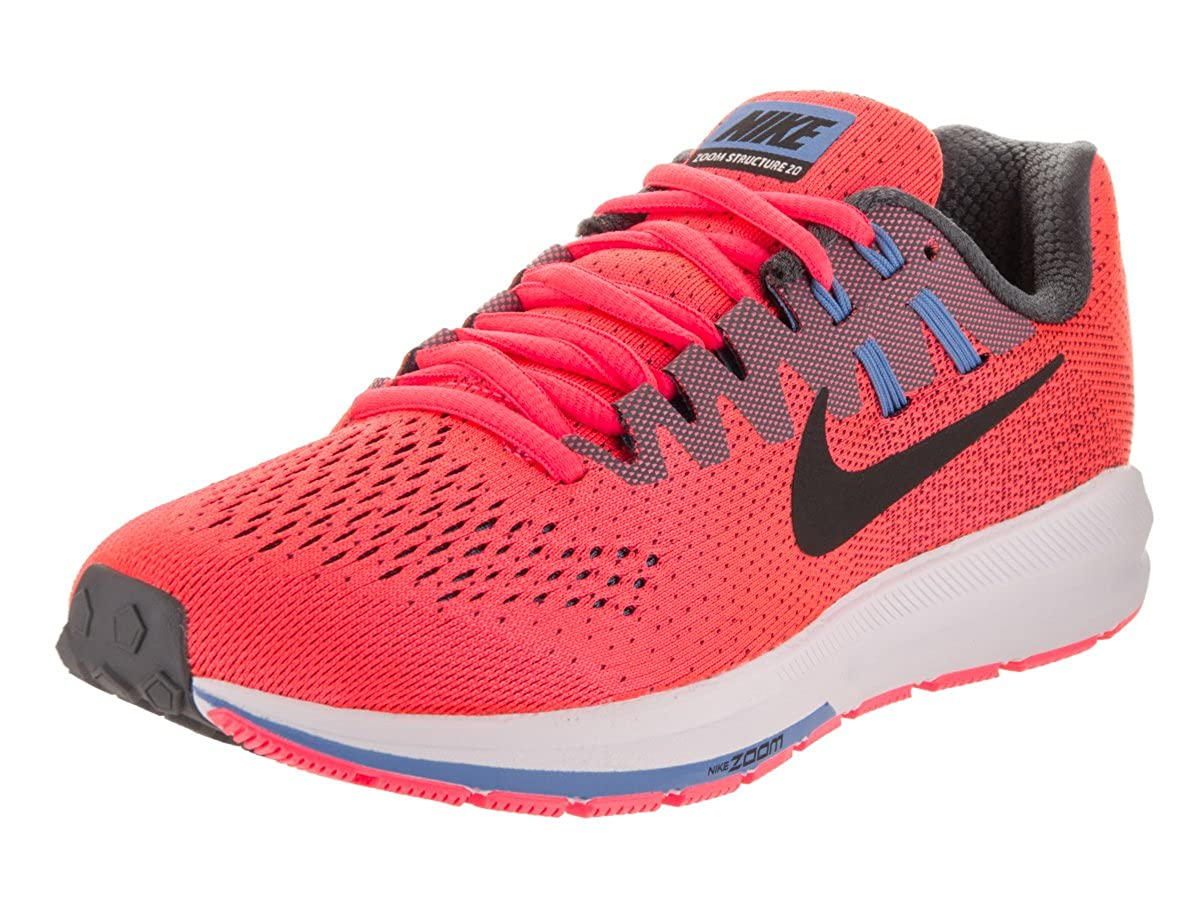 official photos c3696 df087 Amazon.com   NIKE Women s WMNS Air Zoom Structure 20, HOT Punch Black-Dark  Grey, 7.5 US   Road Running