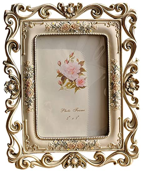Giftgarden 7x5 Photo Frames Classic Flower Craft Frame for Home ...