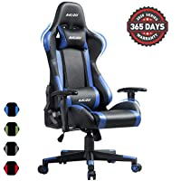 Deals on Muzii PU Leather Ergonomic Adjustable Computer Chair