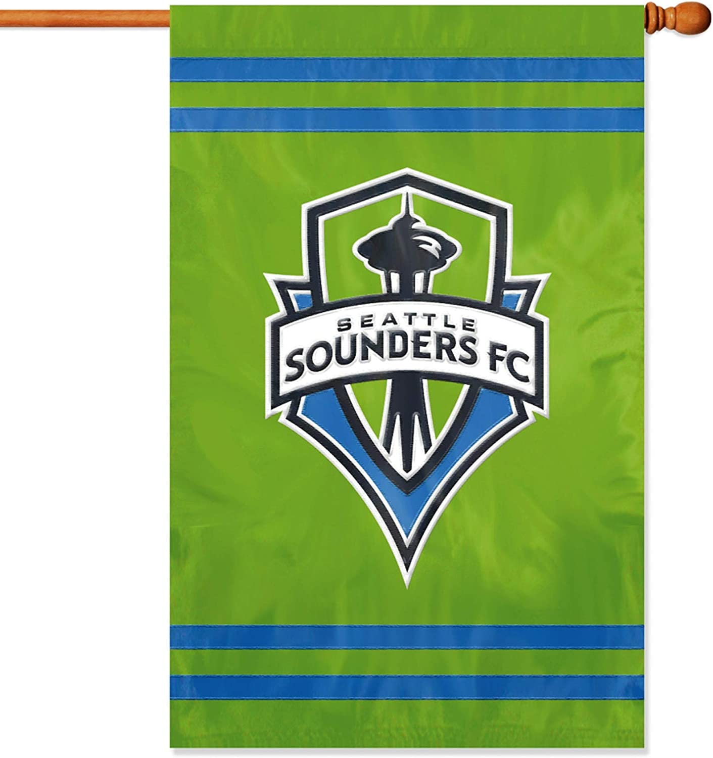 Seattle Sounders FC Premium 2-Sided 28x44 Banner Applique Embroidered House Flag