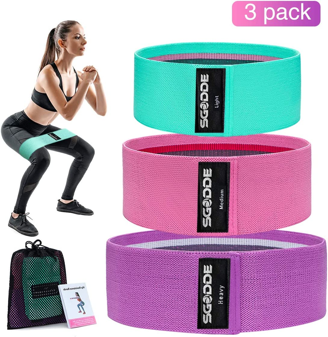 Amazon Com Sgodde Exercise Resistance Bands For Legs And Butt 3
