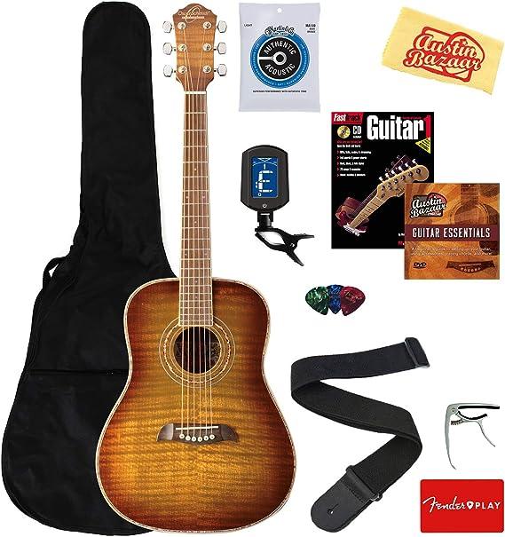 Oscar Schmidt OG1FYS 3/4-Size Kids Learn-to-Play Acoustic Guitar Bundle w/Gig Bag