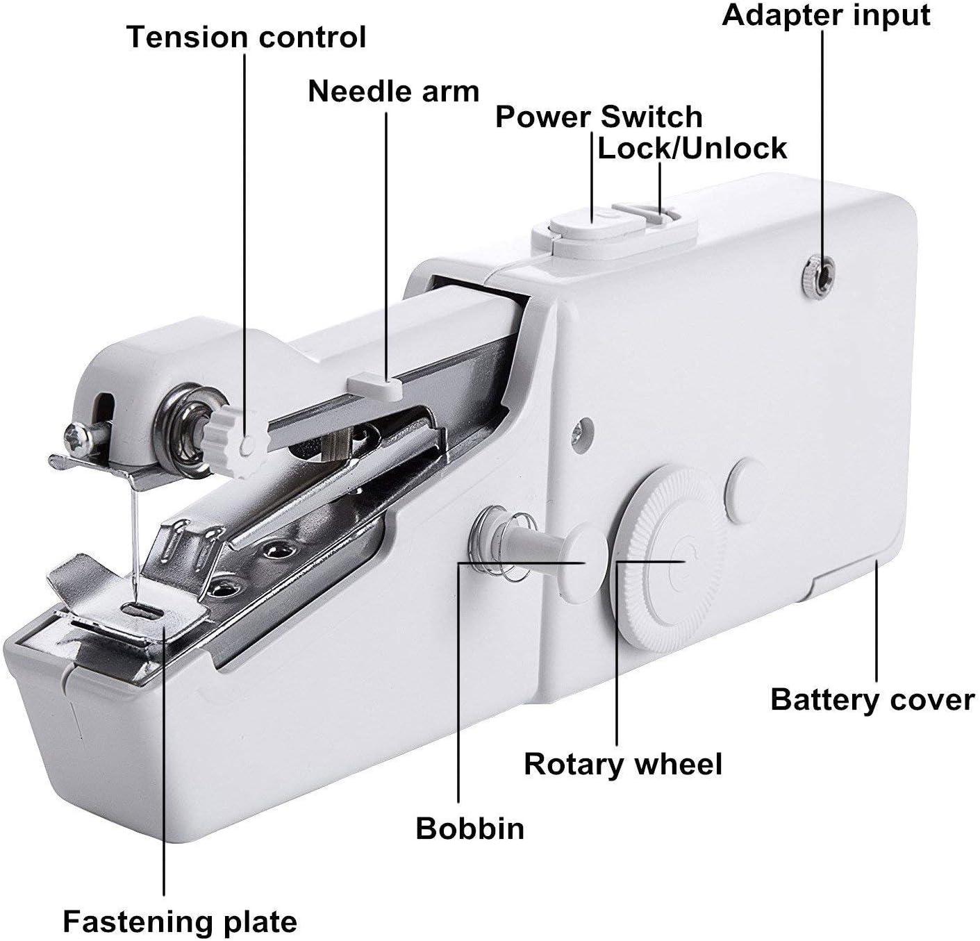MQFORU máquina de coser portátil, máquina de coser de mano mini ...
