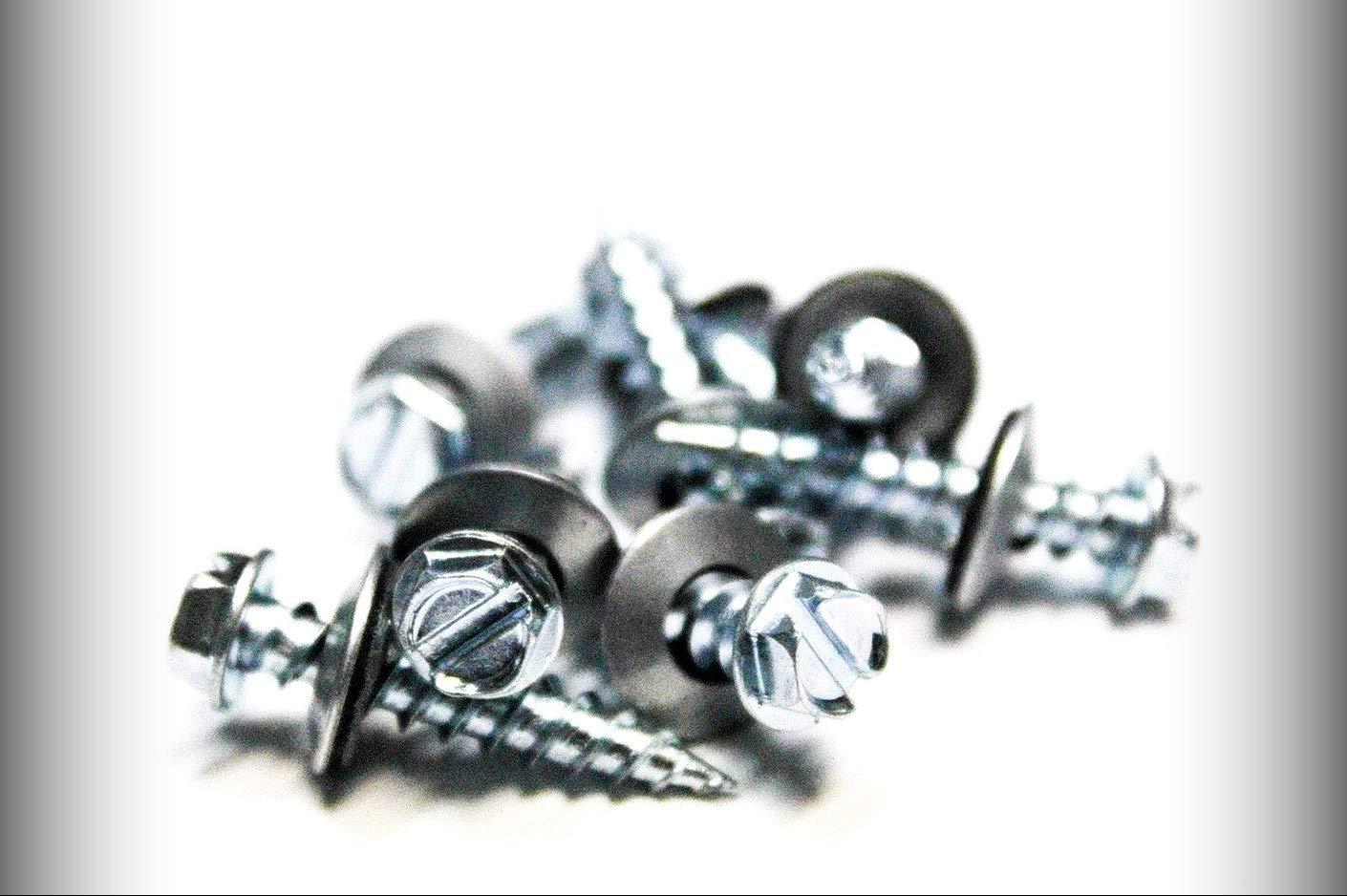 New Package of 100 Set #TR-0685F Warranity by Pr-Mch pcs 10 x 1 Hex Head Sheet Metal Screws Neoprene Washer Roofing Screws