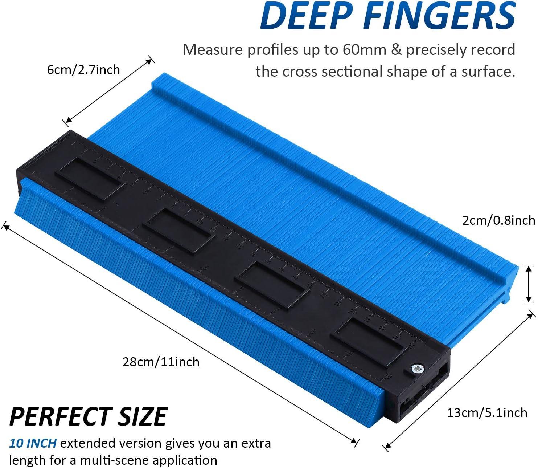 Kontur Messger/ät Duplizierer Profil Kopier Messger/ät Form Messger/ät f/ür Holz Bearbeitung 6 cm Breit Gr/ün