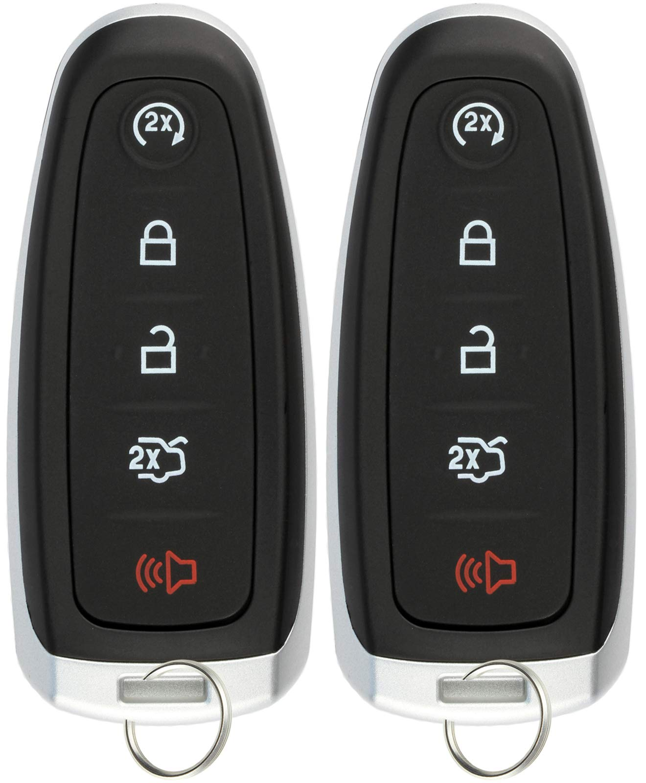 KeylessOption Keyless Entry Car Remote Start Smart Key Fob for Ford Lincoln M3N5WY8609 (Pack of 2) by KeylessOption