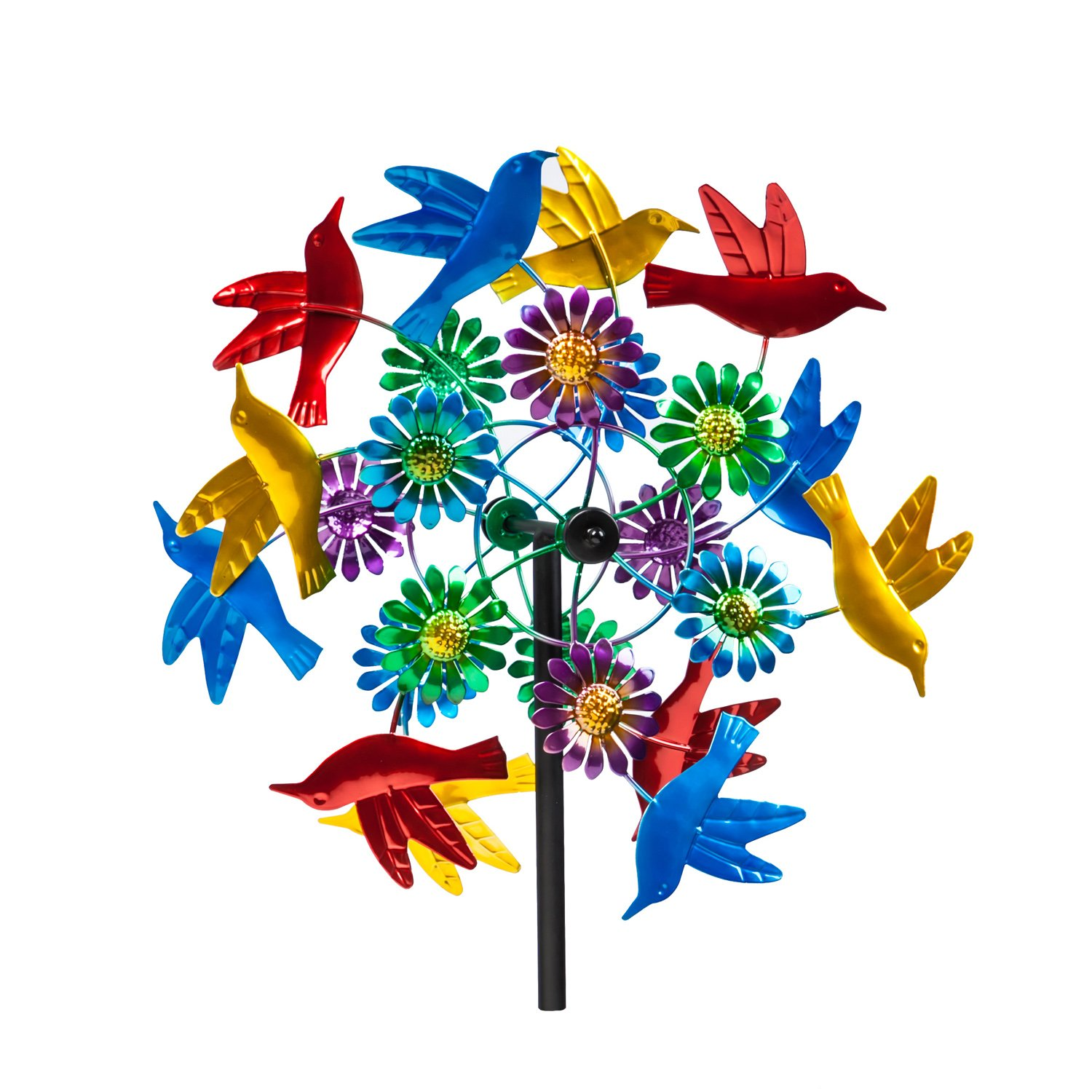 Evergreen Birds in Flight Outdoor Safe Kinetic Wind Spinning Topper - Pole Sold Separately