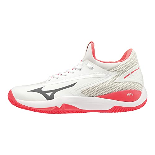 Mizuno Wave Impulse CC, Zapatillas de Tenis para Mujer, Blanco (White/Dark Shadow/Fiery Coral 08) 40 EU: Amazon.es: Zapatos y complementos