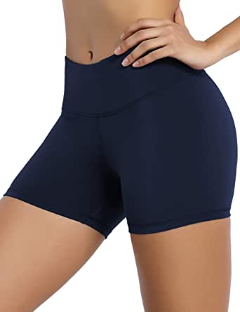 "BUBBLELIME 2.5""/4"" Inseam Yoga Shorts Running Shorts Inner Pocket Workout Fitness Active Wicking Tummy Control"