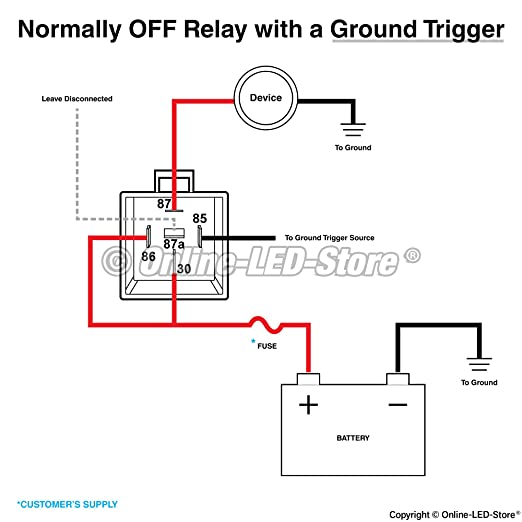 relay wiring for ground