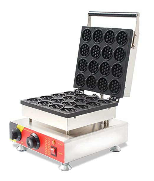 cgoldenwall NP de 690 16 Comercial Mini Waffle Maker redondo ...