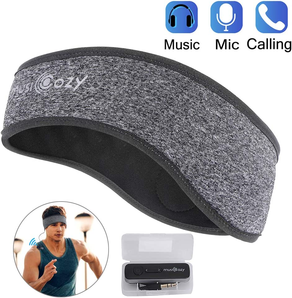 Long Time Play Sleeping Headsets with Built in Speakers Perfect for Workout Sleep Headphones Bluetooth Headband,Upgrage Soft Sleeping Wireless Music Sport Headbands Wine Red Yoga Running