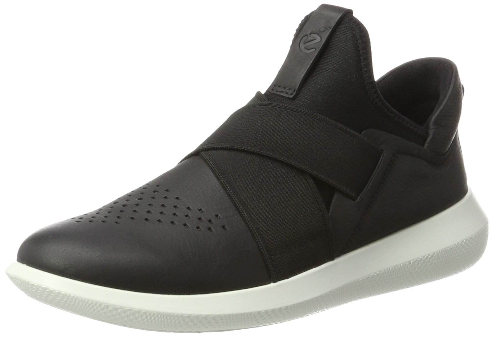 ECCO Women's Women's Scinapse Band Fashion Sneaker, Black/Black, 41 EU/10-10.5 M US