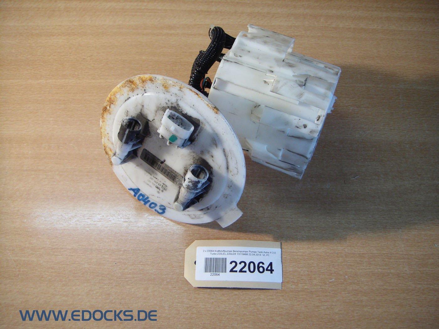 Bomba de combustible Bomba de gasolina, depósito Astra H 2,0 Turbo z20lel z20ler Opel: Amazon.es: Coche y moto