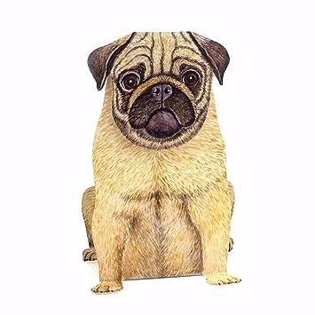 3D Pop Up Card QuotCUTE PUGquot An Eleborate Dog