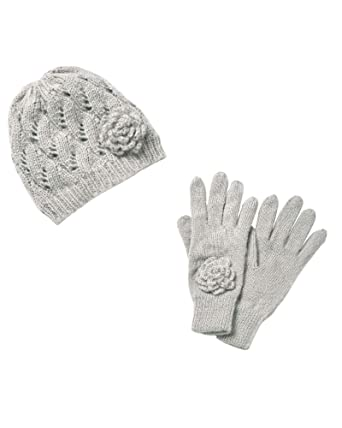 2aaecb62b9a2b2 Cotton Traders Womens Casual Fleece Lined Hat and Gloves Set One Size Grey:  Amazon.co.uk: Clothing