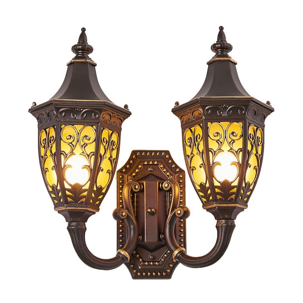 CQ Lampada da Parete Europea Impermeabile da Esterno Lampada da Parete Europea da Cortile in Stile Antico Lampada da corridoio per corridoio con Balcone