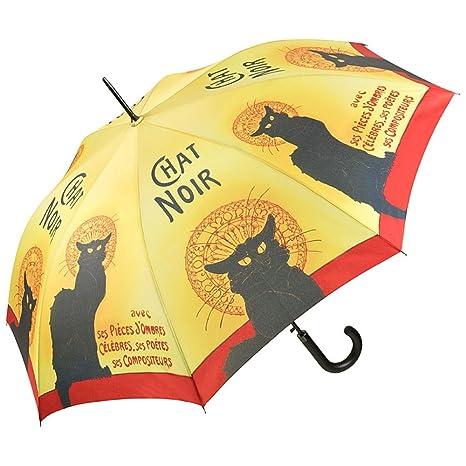 VON LILIENFELD Paraguas Automática Mujer Motivo Arte Chat Noir