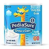 PediaSure Grow & Gain Vanilla Shake Mix, Nutrition Shake For Kids, 14 oz, 2 Count