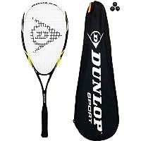 Dunlop Nanomax Pro Squash Racket + 3 Squash Balls and Full Cover