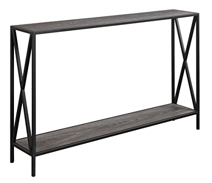 Superb Convenience Concepts Tucson Console Table, Weathered Gray