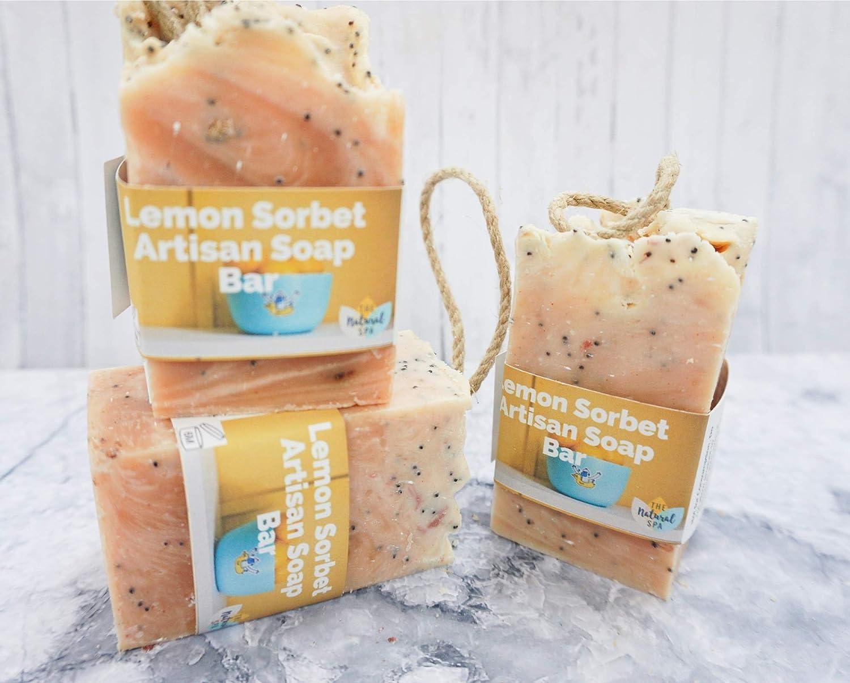 Soap on a Rope - Lemon Sorbet - Plastic Free - Vegan - Palm Free
