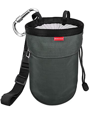 91e1e533c3e4 Rhino Valley Chalk Bag,No Leak Rock Climbing Strawstring Bag Drawstring  Magnesia Sack with Adjustable