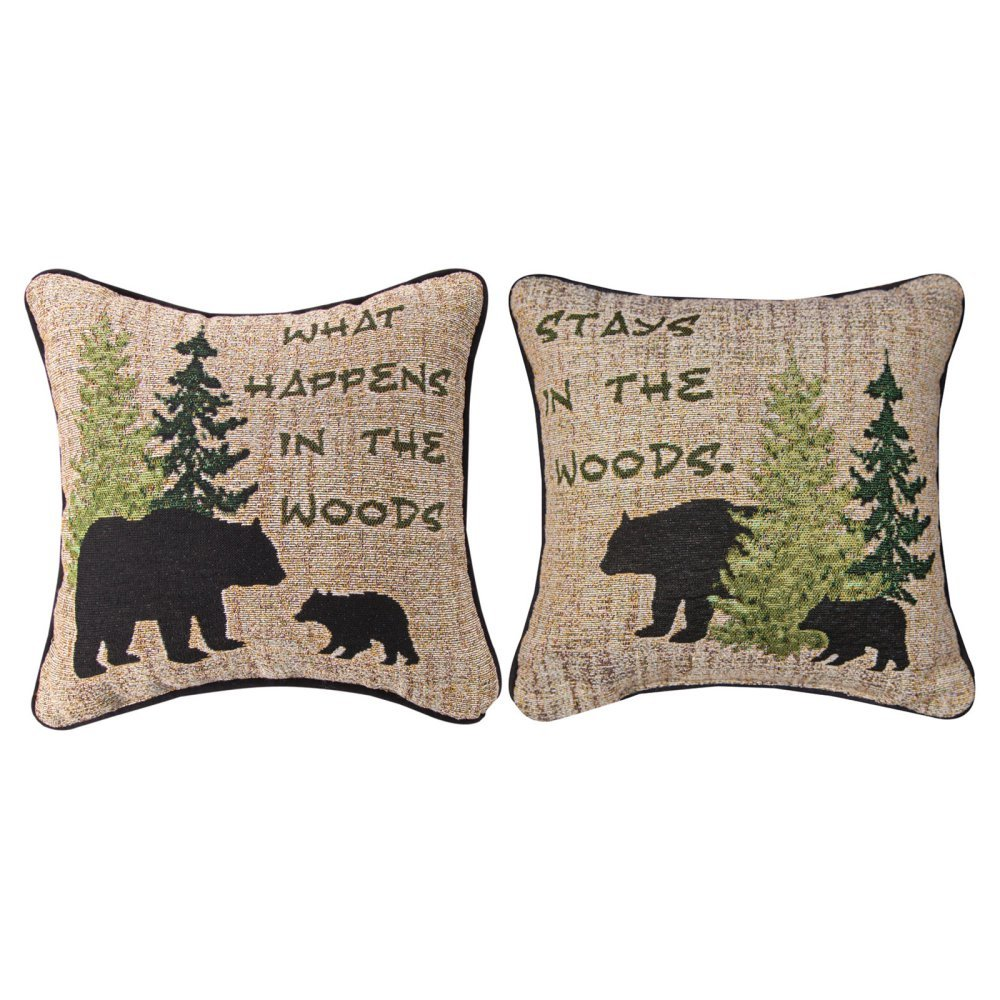 What Happens In The Wood 12'' Pillow