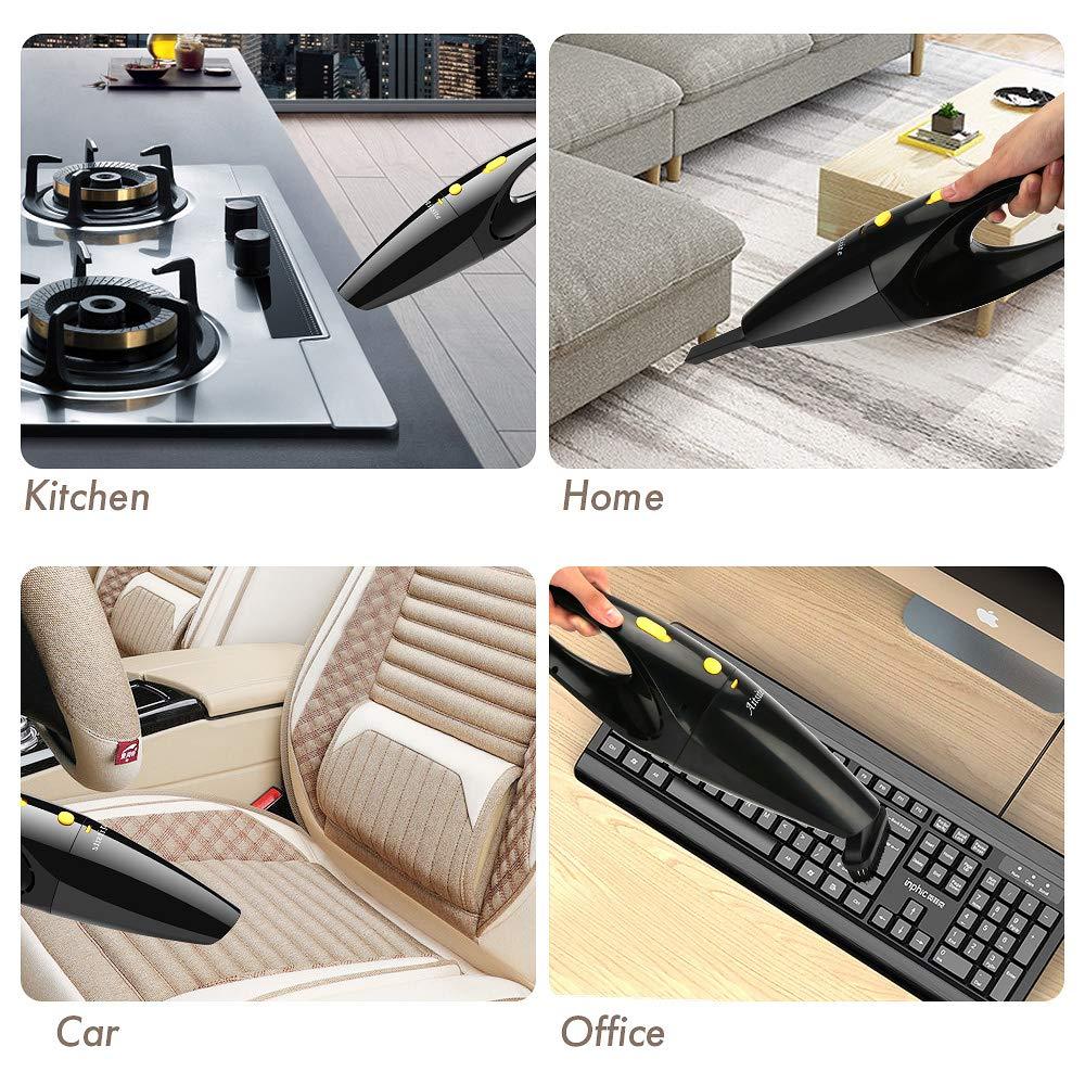 Aspirateur portatif sans fil 120W puissant dAitsite Aspirateur portatif puissant de voiture Mini aspirateur tenu dans la main sec et humide avec la batterie rechargeable