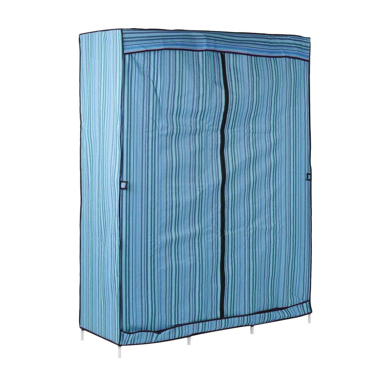Simple Design 68 Inch +70 Inch Folding Closet Wardrobe Clothes Stainless Rack Organizer Storage Wardrobe Cabinets