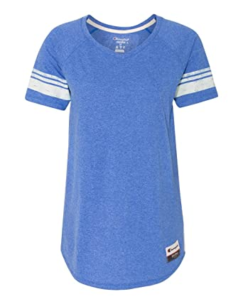 3c7515fc Champion Authentic Originals Women's Triblend Short Sleeve Varsity T-Shirt  AO350 Athletic Royal Heather w