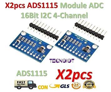 Pro Gain Amplifier I2C ADS1115 16 Bit 4 Channel ADC Module For Arduino