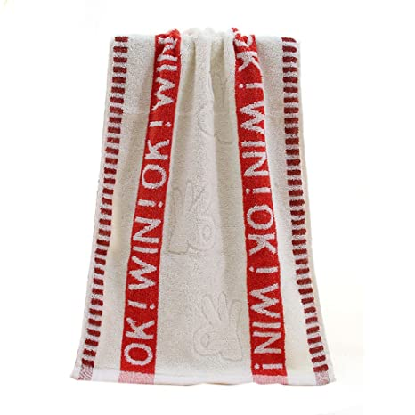 Xiang Algodón letras bordadas Ok Gesture cara Toalla Playa baño absorbente secar tela