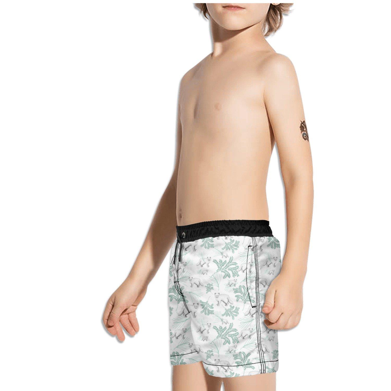 Ouxioaz Boys Swim Trunk White Fox Leaf Beach Board Shorts