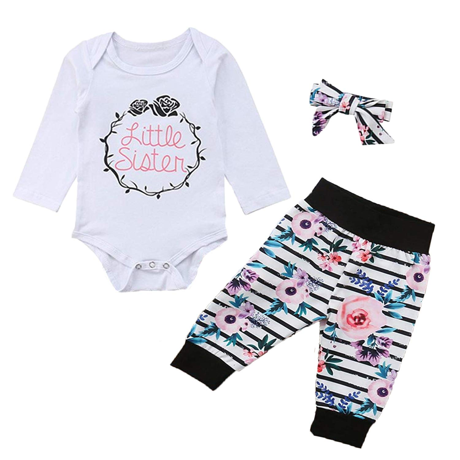 HESHENG PANTS ベビーガールズ 80( 6-12M ) Little Girl B07GV2SRMB